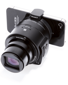 Sony Cyber-Shot DSC-QX30 Manual - attached on smartphone