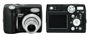 Nikon CoolPix P50 Manual-camera front and back side