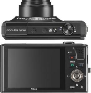 Nikon CoolPix S8000 Manual-camera back and side