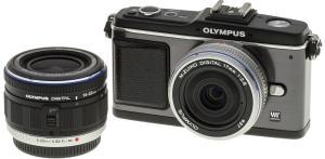 Olympus E-P2 Manual-camera front face