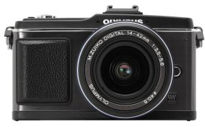 Olympus E-P2 Manual for an Advanced Technology Camera inside Classic Case