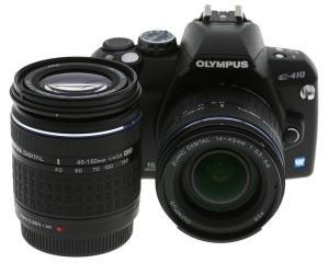 Olympus EVOLT E-410 Manual - camera front face with lens