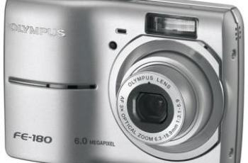 Olympus FE-180 Manual for the Updated Camera Version of FE-170