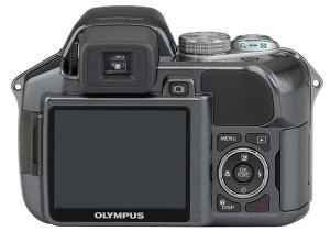 Olympus SP-550 UZ Manual - camera back side