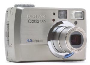 Pentax Optio 430 Manual - camera front face