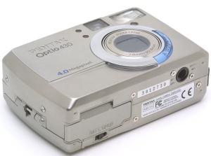 Pentax Optio 430 Manual - camera side
