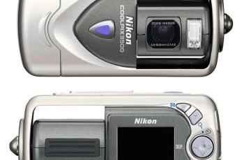 Nikon CoolPix 3500 Manual - camera front and back side
