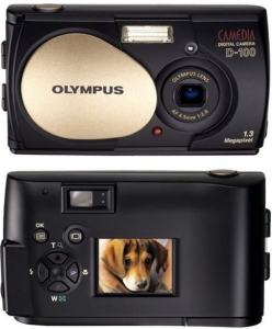 Olympus D-100 Manual - camera front and back side