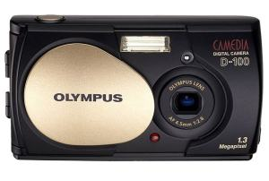 Olympus D-100 Manual - camera with lens cover opened