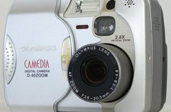 Olympus D-40 Zoom Manual - camera front side