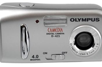 Olympus D-425 Manual - camera front face