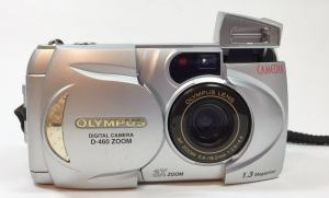 Olympus D-460 Zoom Manual - camera front side
