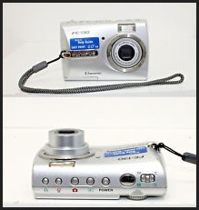 Olympus D-555 Zoom Manual - camera front and side