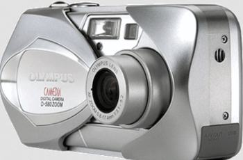Olympus D-580 Zoom Manual - camera front side