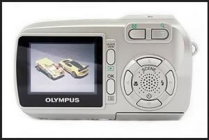 Olympus D-590 Zoom Manual - camera back side