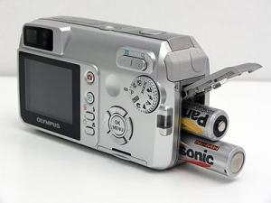 Olympus D-595 Zoom Manual - camera side