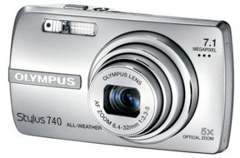 Olympus Stylus 740 Manual - camera front face