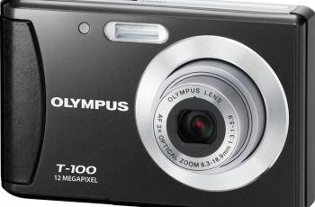 Olympus T-100 Manual- camera front face