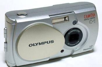 Olympus C-1 Manual - camera front side