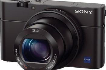 Sony DSC-RX100M3 Manual - camera front face