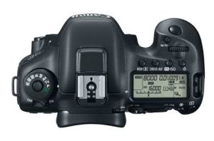 Canon EOS 7D Mark II Manual - camera top side