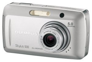 Olympus Stylus 500 Manual - camera front face