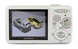 Olympus Stylus 500 Manual - camera rear side