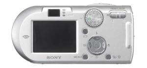 Sony DSC P-100 Manual - camera rear side