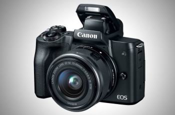 Canon EOS M50; camera front face