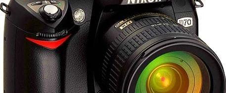 Nikon D70 Manual - camera front face