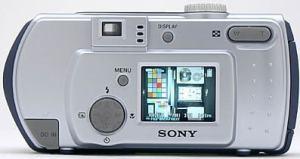 Sony DSC P30 Manual - camera rear side