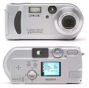 Sony DSC P71 Manual - camera front and back side