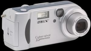 Sony DSC P71 Manual - camera front side