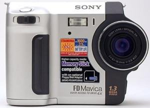 Sony MVC-FD87 Manual - camera front face