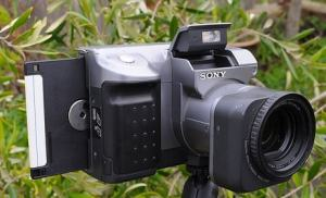 Sony MVC-FD91 Manual - camera side with disket