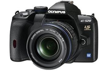 Olympus E-520 Manual - camera front face