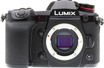 Panasonic Lumix G9; camera front face