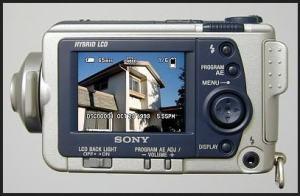 Sony DSC F505V Manual - rear side