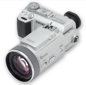 Sony DSC F717 Manual - camera front face