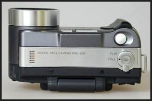 Sony DSC S30 Manual - camera top side