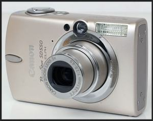 Canon PowerShot SD550 Manual User Guide and Product Specification