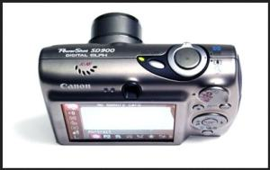 Canon PowerShot SD900 Manual - camera top plate