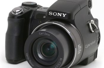 Sony DSC H9 Manual - camera front face