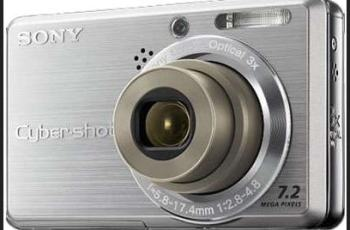 Sony DSC-S750 Manual - camera front face