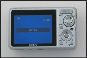 Sony DSC-S780 Manual - camera rear side