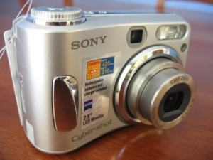 Sony DSC-S90 Manual - camera front face