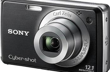Sony DSC W230 Manual - camera front face