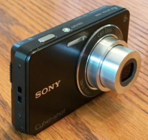 Sony DSC W350 Manual - camera side