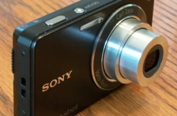 Sony DSC W350 Manual - camera side