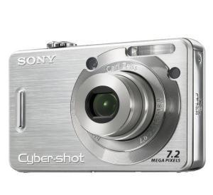 Sony DSC W55 Manual - camera front face